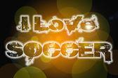 I Love Soccer Concept — Foto Stock