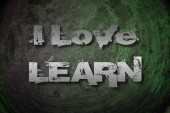 I Love Learn Concept — Foto Stock