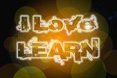 Ben aşk kavramı öğrenmek — Stok fotoğraf