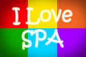 I Love Spa Concept — Stockfoto