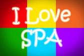I Love Spa Concept — Foto Stock