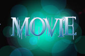 Movie word on vintage bokeh background, concept sign — ストック写真