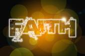 Faith word on vintage bokeh background, concept sign — Stockfoto