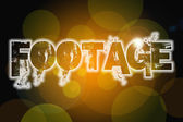 Footage word on vintage bokeh background, concept sign — ストック写真