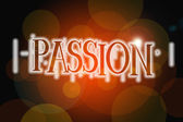 Passion word on vintage bokeh background, concept sign — Stock Photo