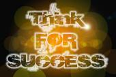 Think for success word on vintage bokeh background, concept sign — Stockfoto