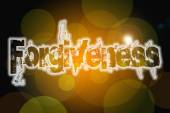 Forgiveness word on vintage bokeh background, concept sign — ストック写真