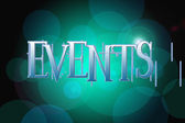 Events word on vintage bokeh background, concept sign — Stockfoto