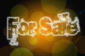 For Sale word on vintage bokeh background, concept sign — Stock Photo