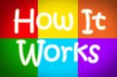 How It Works Concept — Foto de Stock