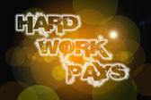 Hard work pays Concept — Stock Photo