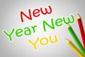 New Year New You Concept — Stock Photo