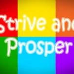 Strive And Prosper Concept — Stock Photo #61495085