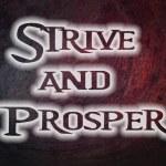 Strive And Prosper Concept — Stock Photo #61495089