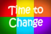 Time To Change Concept — Stock Photo
