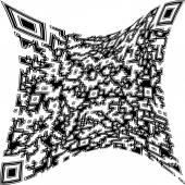 Illustration deformed QR code — Stock Photo