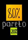Pareto principle, eighty-twenty rule — Stock Photo