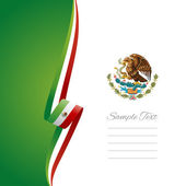Mexican left side brochure cover vector — Vettoriale Stock