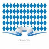 Abstract background New Bavarian flag ribbon — Stock Vector