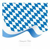 Abstract Bavarian flag ribbon vector — Stock vektor