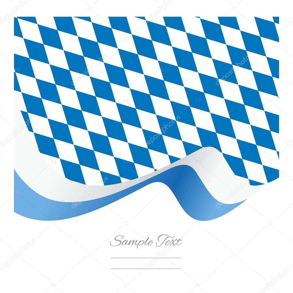 Abstract Bavarian flag ribbon vector — Stock Vector ...