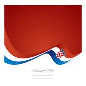 Abstract Croatian flag ribbon vector — Stock Vector