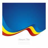 Abstraktní Rumunská stuha vektor — Stock vektor