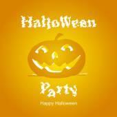 Halloween Party orange 2014 — Vettoriale Stock