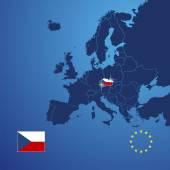Czech Republic map cover vector — Stock Vector