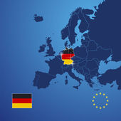 Germany map cover vector — Stock Vector