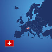 Switzerland map cover vector — Vettoriale Stock