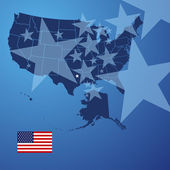 US map stars cover vector — 图库矢量图片