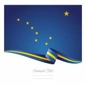 Alaska flag ribbon vector — Vetor de Stock