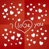 Любите Вас красный второстепенный вектор — Cтоковый вектор