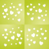 Valentine's Day green background vector — Stock Vector