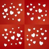 情人节那天红色背景矢量 — 图库矢量图片