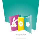Πάσχα κάρτες θάλασσα πράσινο φόντο — Διανυσματικό Αρχείο