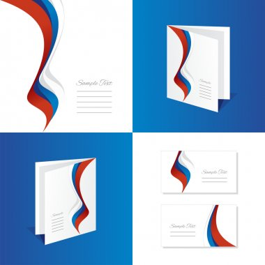 Abstract Russia brochure leaflet folder cover business card