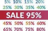 Jeu de chiffres de vente — Vecteur