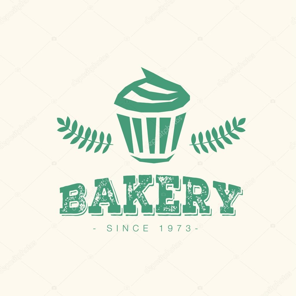 Abstract vector cake vintage logo element. Cakes, bread ...
