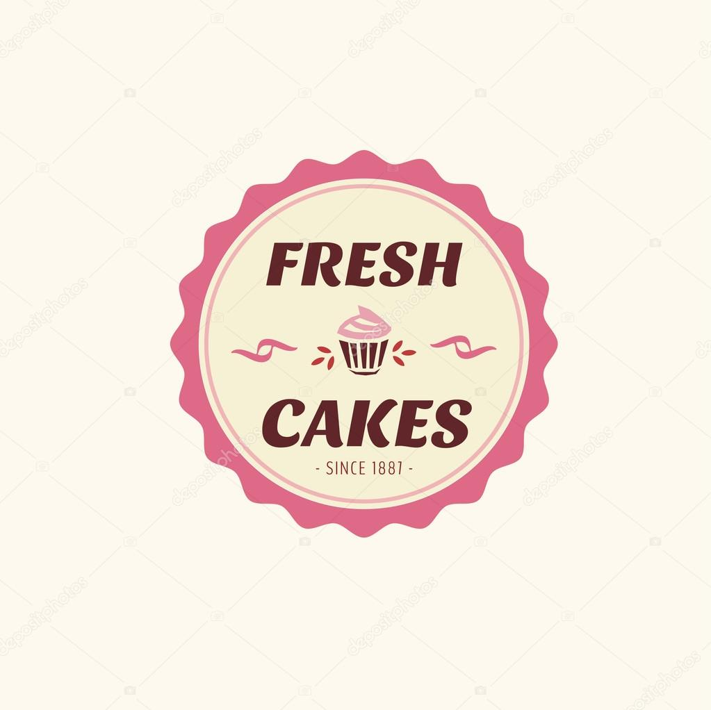 Vintage Cake Logo Design : Abstract vector cake vintage logo element. Cakes, bread ...