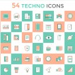 Business vector logo icons set. Objects, techno and finance symbols. Stock design elements. — Stock Vector #77947602
