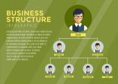 Business Structure Infographic Tree infographic. Command, Boss, Labor and Team. Vector stock illustration for design. — Stock Vector