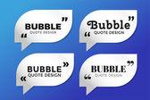 Quote blank template bubble empty design — Stock Vector