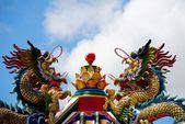 Dragon in Shrine — Stock Photo