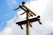 Electricity post — Stock Photo
