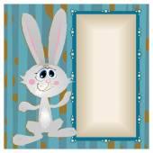 Bunny, big-eyed rabbit with long ears — Stock Vector