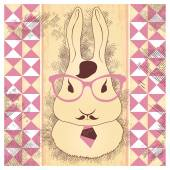Hare hipster — Stock Vector