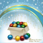 Box of Christmas balls — Stock fotografie