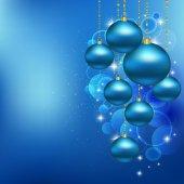 Christmas blue balls — Stock Photo